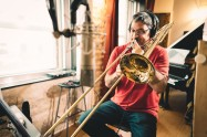 Recording Trombone with Master Domingo Pagliuca