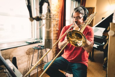 Recording Trombone with Master Domingo Pagliuca